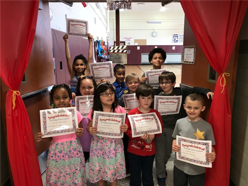 The following students were selected as the School 5 Very Important Readers
