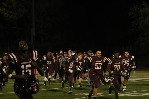DHS football team clinches first playoff victory