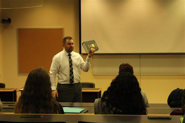 DA Patrick Swanson discusses county concerns with students