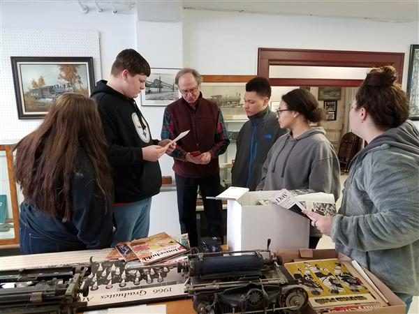 Journalism students visit Dunkirk Historical Society