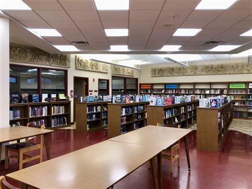 Fiction Section with Tables