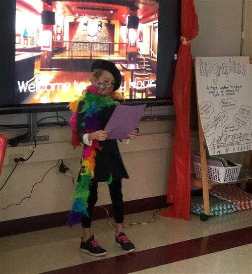 4th grade poet reading her poem